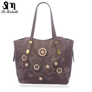 Designer Ladies Bag/Handbags with Flower Pattern pictures & photos