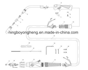 MB 401d/501d Water Cooled MIG/Mag Welding Torch pictures & photos
