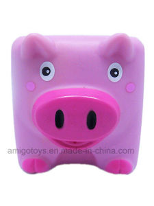Cusotm Made Plastic Pink Pig Shaped Toys pictures & photos