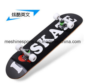 4 Flashing Wheels Maple Wood Scooter Skateboard pictures & photos
