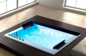 Rectangle Embedded Massage Acrylic Bathtub with LED for 2 Persons (K1718) pictures & photos