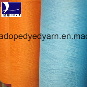 DTY 50d/36f Dope Dyed Polyester Micro Filament Yarn Textured Elastic pictures & photos