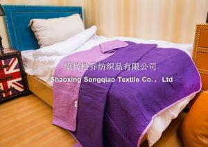 Laser Embossing 100% Cotton Blankets/ Bed Sheet 3 pictures & photos