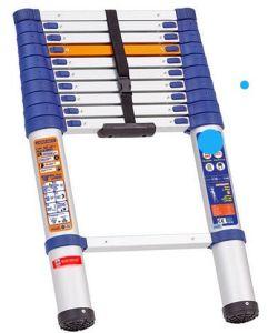 blue Color Plastic Aluminium Telescopic Ladder Nikawa Sales for Vietnam Market pictures & photos