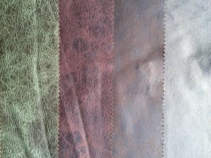 Polyester Sofa Fabric with PU Looking Microfiber Fabric (K032) pictures & photos