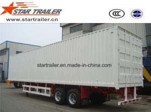 2 Axles Van Type Box Cargo Trailer pictures & photos