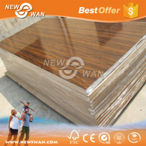UV Coated MDF Sheet (Solid Color, Wood Grain, Flower) pictures & photos