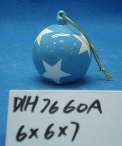 Hand-Painted Ceramic Ball for Christmas Tree Decoration pictures & photos