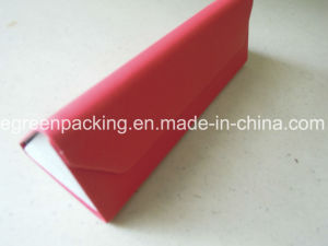 Red PU Wrapped Foldable Triangle Spectacle Eyeglasses Case (KS1) pictures & photos