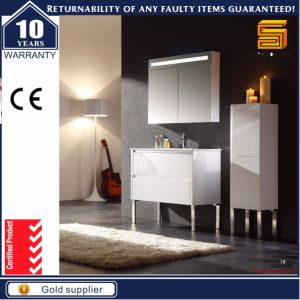 Sanitary Ware Solid Wood Floor Mounted Bathroom Vanity Set pictures & photos