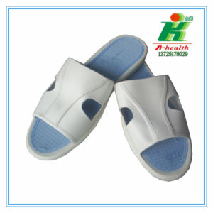 Antistatic 2-Eyes ESD Slipper Used in Cleanroom Workshop pictures & photos