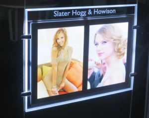 Slim LED Light Box with Acrylic LED Light Panel and Crystal Light Pocket pictures & photos