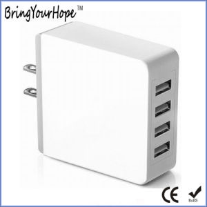 High Quality Quad Ports 5V 4.2A USB Wall Charger (XH-UC-006) pictures & photos