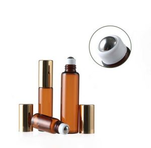 5ml Amber Glass Roll-on Bottle for Cosmetics Packaging pictures & photos