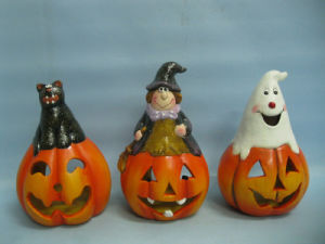 Halloween Pumpkin Ceramic Arts and Crafts (LOE2378-17) pictures & photos