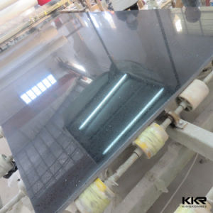 Engineerd Stone Slabs Black Mirror Stone Quartz 0706 pictures & photos