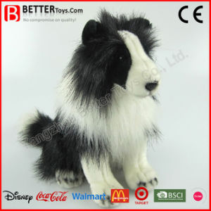 ASTM Lifelike Stuffed Animal Soft Toy Plush Border Collie Dog pictures & photos