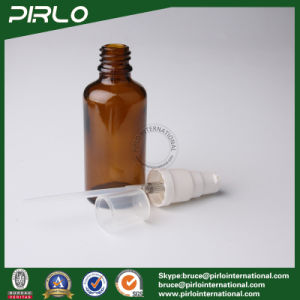 50ml Amber Lightproof Glass Spray Bottles with White Pump Sprayer pictures & photos