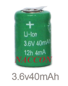 Li-ion Rechargeable Batteries for 3.6V-40mAh pictures & photos