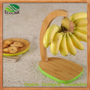 Natural Bamboo Banana Holder Shelf Rack pictures & photos