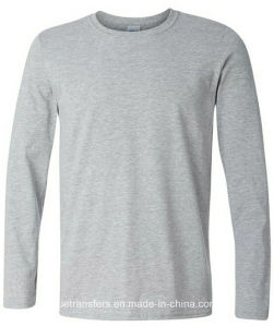 Men′s Long Sleeve T-Shirts in 100% Cotton 180GSM in Classic Fit pictures & photos