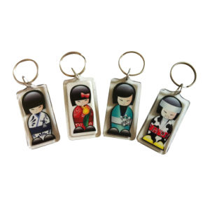 Rectangle Clear Acrylic Promotional Keychain pictures & photos