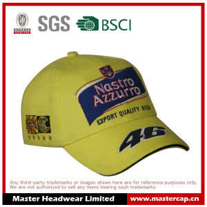100% Cotton Twill Applique Embroidery Flat Embroidery Cool Racing Cap Baseball Cap for Adults pictures & photos