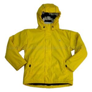 Solid Lemon Hooded Rain Jacket/Raincoat pictures & photos