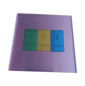 Glass Touch Switch with Colorful panel pictures & photos