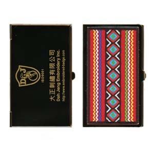 Embroidered Business Card Case - Gold Plated - Taiwanese Aboriginal Art pictures & photos