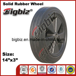 Polyurethane Agricultural 14 Inch Solid Rubber Wheel for Wheelbarrow pictures & photos