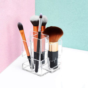 New Product Fashion Design Transparent Acrylic Cosmetic Brush Storage Box pictures & photos