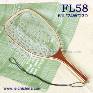 Square Frame Landing Net Wooden Handle Landing Net pictures & photos