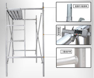 SGS Passed Safe Walk Through Scaffolding Frame for Construction pictures & photos