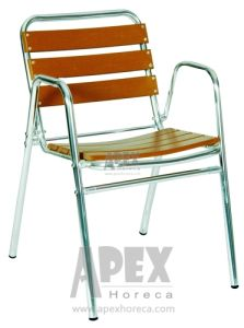 Aluminum Garden Plastic Chair Plastic Wood Chair (AS1005AP) pictures & photos