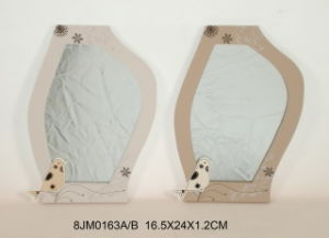 Wooden Irregular Mirror with Screenprinting pictures & photos