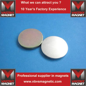 Super Strong Permanent NdFeB Disc Magnet for Industrial Use pictures & photos