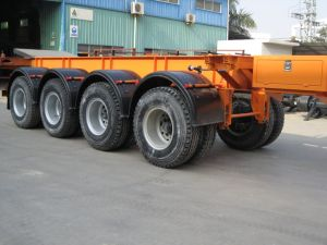 40feet Four Axles Skeletal Chassis Trailer pictures & photos