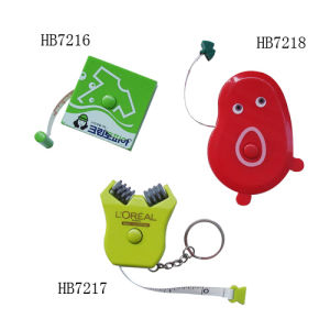 Fashion Tape Measure - Key Chain (HB7216, HB7217, HB7218)