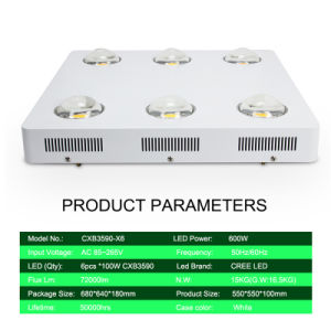 600W COB Cxb3590 LED Grow Light for Plants Hydroponic LED Indoor COB pictures & photos