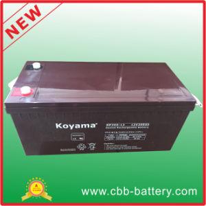 High Quality 12V 200ah Lead Acid AGM Solar Battery pictures & photos