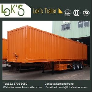 40 Feet 3 Axles Soil Waste High Walled Trailer pictures & photos