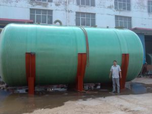 FRP and GRP Horizontal Tank for Chemical Liquid and Water 1kl-150kl