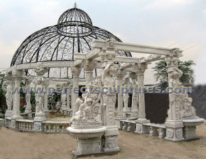 Stone Marble Garden Gazebo for Antique Garden Decoration (GR036A) pictures & photos