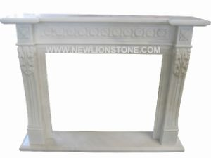 White Marble Fireplace Mantel / Fire Place