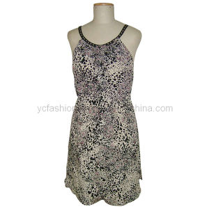 Ladies Silk CDC Print Dress