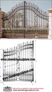 Artistic Cast Iron Gate, Wrought Iron Gate, Garden Gate (SK-5015) pictures & photos
