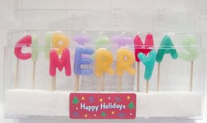 """""""Merry Christmas"""" Toothpick Candle (UCT5010)"""