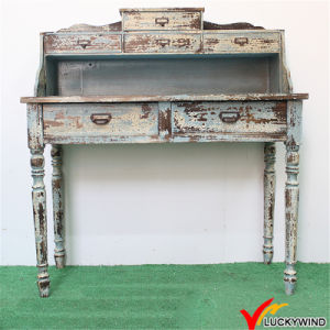 Handmade Indoor Distressed Wood Carved Console Table pictures & photos