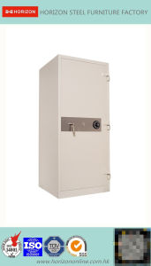 Fire Proof Steel Filing Cabinet with One Combination Lock pictures & photos